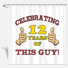 Funny 12th Birthday For Boys Shower Curtain