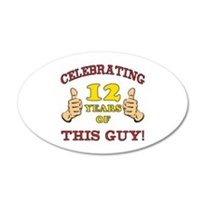 Funny 12th Birthday For Boys Wall Decal