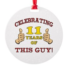 Funny 11th Birthday For Boys Ornament