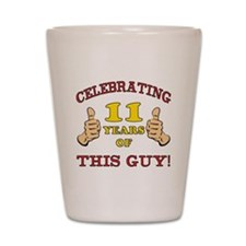 Funny 11th Birthday For Boys Shot Glass