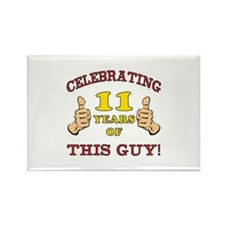 Funny 11th Birthday For Boys Rectangle Magnet