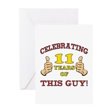 Funny 11th Birthday For Boys Greeting Card
