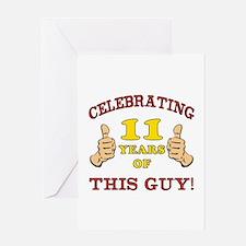 Funny 11th Birthday For Boys Greeting Card