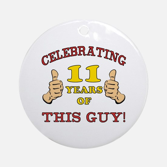 Funny 11th Birthday For Boys Ornament (Round)