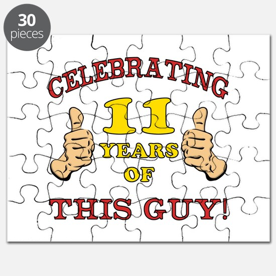 Funny 11th Birthday For Boys Puzzle