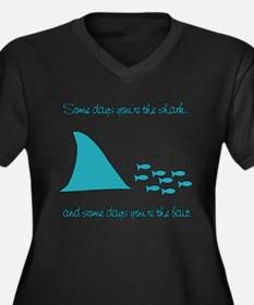Some Days Youre the Shark Women's Plus Size V-Neck