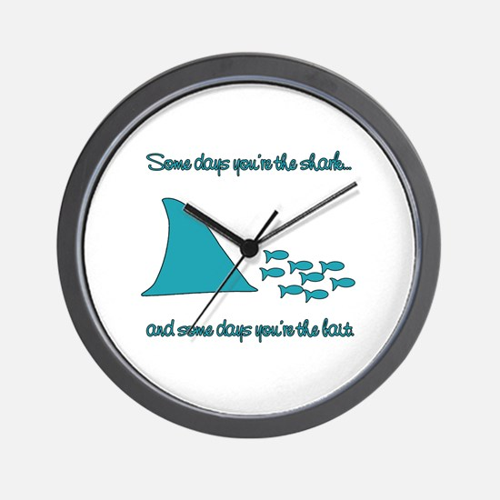 Some Days Youre the Shark Wall Clock
