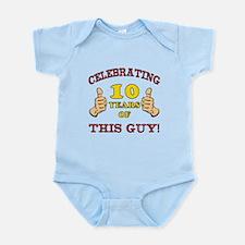 Funny 10th Birthday For Boys Infant Bodysuit