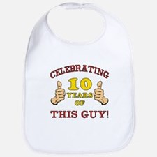 Funny 10th Birthday For Boys Bib