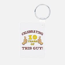 Funny 10th Birthday For Boys Aluminum Photo Keycha