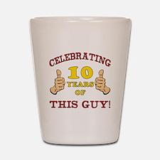 Funny 10th Birthday For Boys Shot Glass