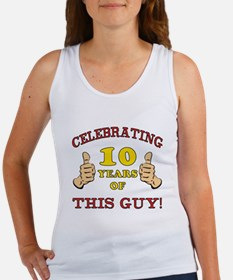 Funny 10th Birthday For Boys Women's Tank Top