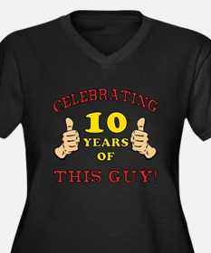 Funny 10th Birthday For Boys Women's Plus Size V-N