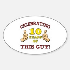 Funny 10th Birthday For Boys Decal