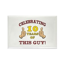 Funny 10th Birthday For Boys Rectangle Magnet
