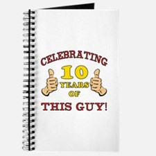 Funny 10th Birthday For Boys Journal