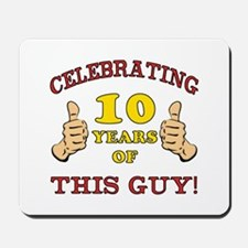 Funny 10th Birthday For Boys Mousepad