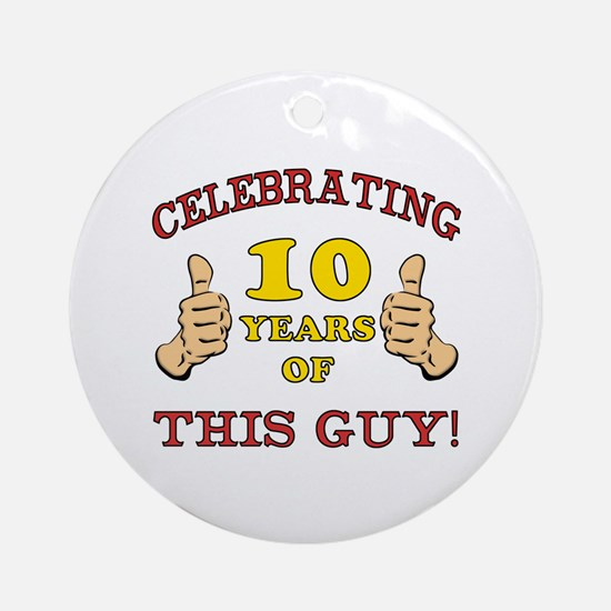 Funny 10th Birthday For Boys Ornament (Round)