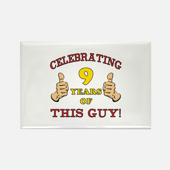 Funny 9th Birthday For Boys Rectangle Magnet
