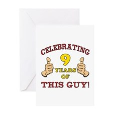 Funny 9th Birthday For Boys Greeting Card