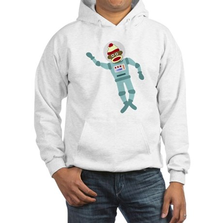 Sock Monkey Spacesuit Astronaut Hooded Sweatshirt