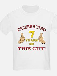 Funny 7th Birthday For Boys T-Shirt