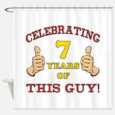 Funny 7th Birthday For Boys Shower Curtain
