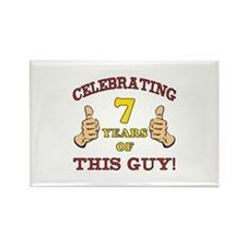 Funny 7th Birthday For Boys Rectangle Magnet