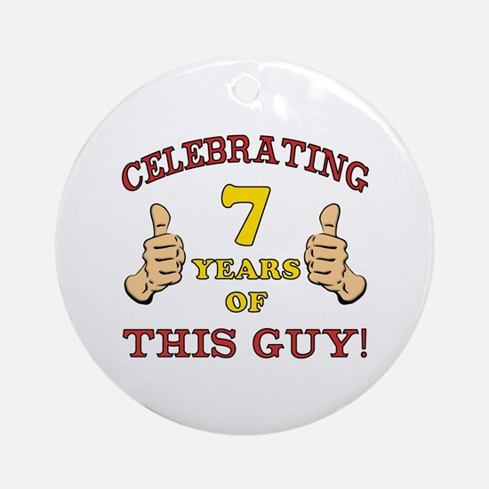Funny 7th Birthday For Boys Ornament (Round)
