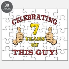 Funny 7th Birthday For Boys Puzzle