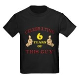 Age 6 birthday Kids T-shirts (Dark)