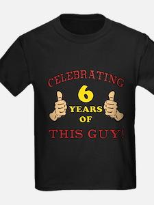 Funny 6th Birthday For Boys T