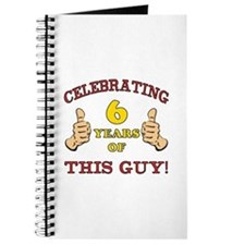 Funny 6th Birthday For Boys Journal