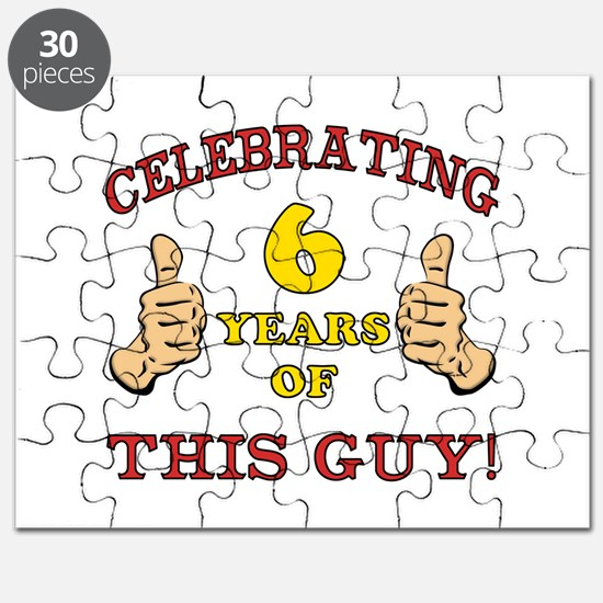 Funny 6th Birthday For Boys Puzzle
