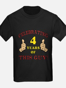 Funny 4th Birthday For Boys T