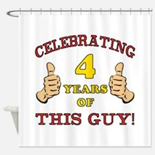 Funny 4th Birthday For Boys Shower Curtain