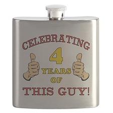 Funny 4th Birthday For Boys Flask