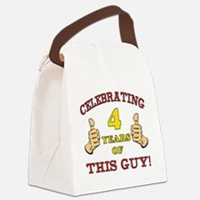 Funny 4th Birthday For Boys Canvas Lunch Bag