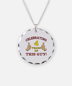 Funny 4th Birthday For Boys Necklace