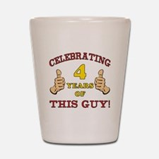 Funny 4th Birthday For Boys Shot Glass