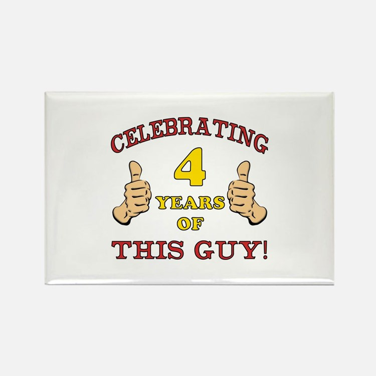 Funny 4th Birthday For Boys Rectangle Magnet