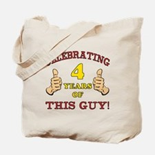 Funny 4th Birthday For Boys Tote Bag