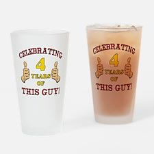 Funny 4th Birthday For Boys Drinking Glass
