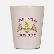 Funny 3rd Birthday For Boys Shot Glass