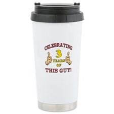 Funny 3rd Birthday For Boys Travel Mug
