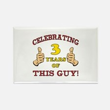 Funny 3rd Birthday For Boys Rectangle Magnet