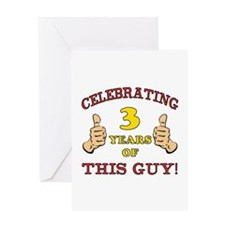Funny 3rd Birthday For Boys Greeting Card