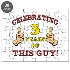 Funny 3rd Birthday For Boys Puzzle