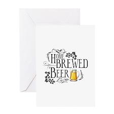 Home Brewed Beer Greeting Card