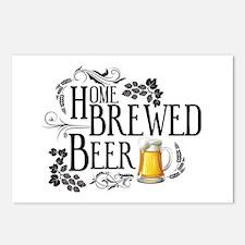 Home Brewed Beer Postcards (Package of 8)
